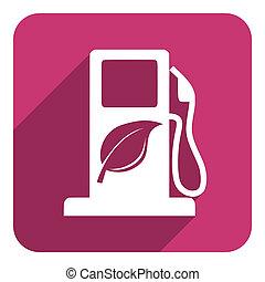 brandstof, bio, pictogram
