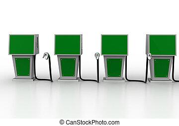 brandstof, bio, station