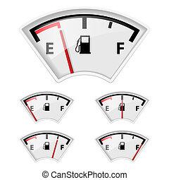 brandstof, indicator.