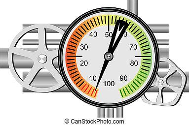 brandstof, meter