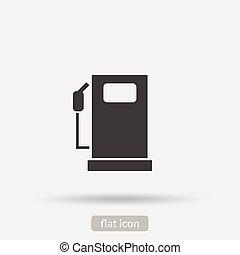 brandstof, pictogram, vector, is, type, eps10