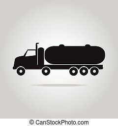 brandstof, symbool, vrachtwagen