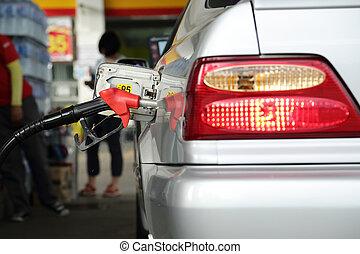 brandstof, zelf, pomp, dienst