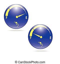 brandstofmetre, gas, meter, illustratie