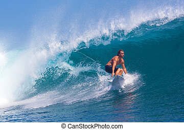 brandung, area.indonesia., surfen, wave.gland