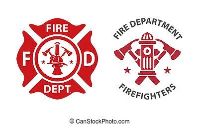 brandweer, logo