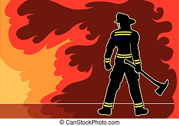 brandweerman, tegemoetkoming
