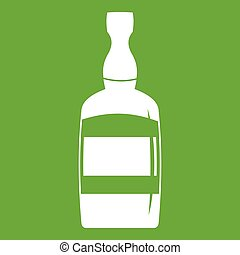 Brandy bottle icon green