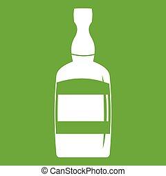 Brandy bottle icon green