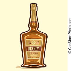 Brandy - Bottle of brandy