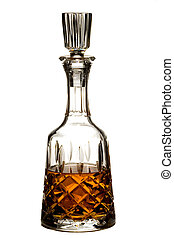 Brandy Decanter - Cut Crystal Brandy Decanter on White