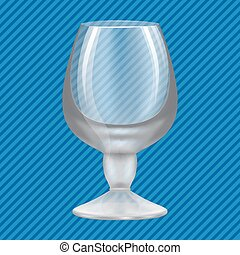Brandy glass concept background, realistic style