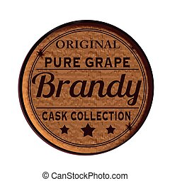 brandy - Label stamp with text Brandy on vecto rillustration