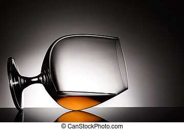 Brandy Snifter on its Side - Closeup of a brandy snifter...