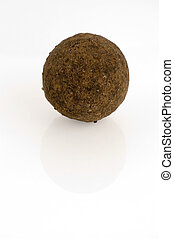 Brandy truffle isolated - Isolated brandy truffle candy on...