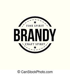 Brandy vintage retro stamp vector
