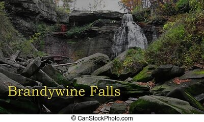 Brandywine Falls in Cuyahoga Valley National Park Ohio. A...