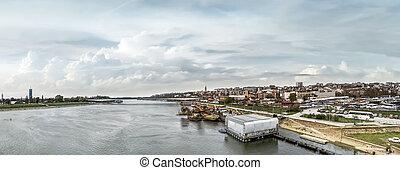 branko's, belgrad, panorama, bewölkt , schiff, shelt,...