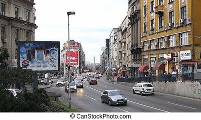 Brankova street in Belgrade, Serbia