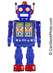 bras, étain, sien, robot, côté