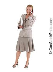 bras, femme, informatique, téléphone, sous