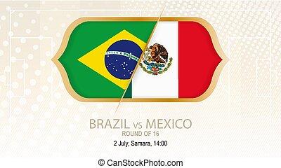 brasil, 16., méxico, fútbol, competición, samara., contra,...