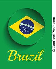 brasil, 2014, bandera, cartas, brasileño