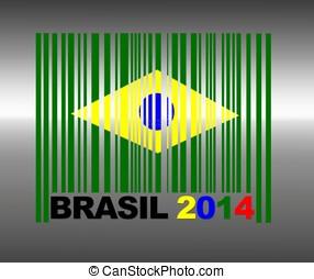 Brasil 2014. - Barcode Brasil 2014.