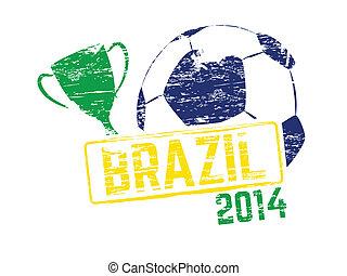 brasil, 2014, vetorial, selo