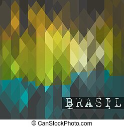 Brasil 2014 World soccer championship abstract background for posters, covers or flyers.