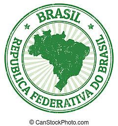 brasil, bélyeg