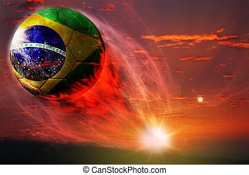 Brasil ball in galaxy, world cup 2014