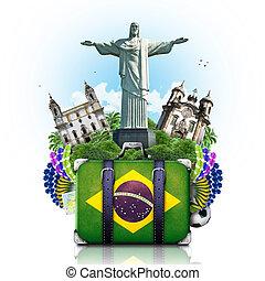 brasil, brasil, señales, viaje