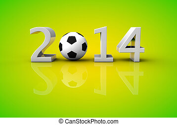 brasil, concepto, taza, fútbol, 2014, mundo, futbol