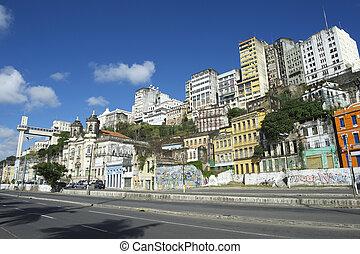 brasil, contorno, salvador, elevador