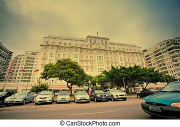 brasil, copacabana, palacio, janeiro, de, río