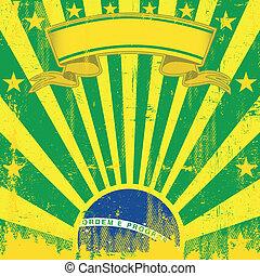 brasil, cuadrado, vendimia, rayos de sol