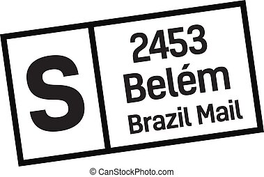 brasil, entrega, estampilla, bel?m, correo