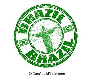 brasil, estampilla