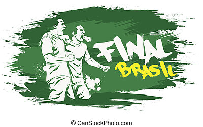 Brasil final - Signs for t-shirts, stickers, flyers and web...