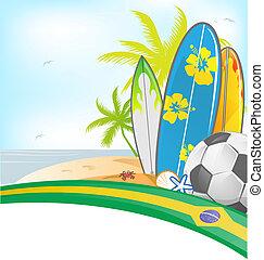 brasil, fundo, verão