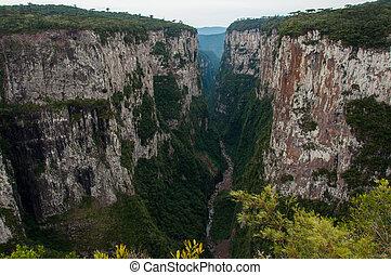 brasil, itaimbezinho, cañones, sul, rio grande, magnífico