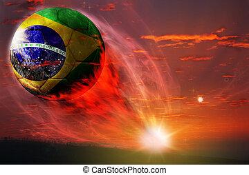 brasil, labda, alatt, galaktika, világbajnokság, 2014