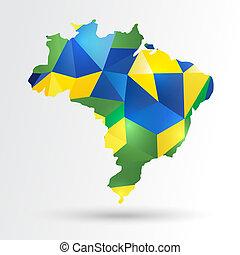 brasil, mapa, abstratos
