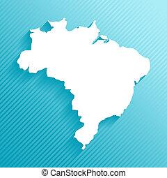 brasil, mapa, papel