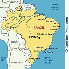 brasil, mapa, república, -, federativo