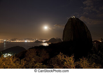 brasil, montaña, janeiro, de, sugarloaf, río