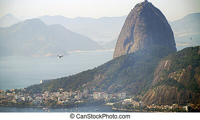 brasil, montaña, janeiro, sugarloaf, de, río