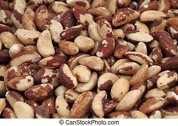 brasil nuts background - fresh brasil nuts as nice gourmet ...