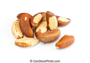Brasil nuts - Few brasil nuts isolated on white background